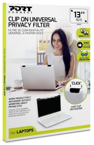 "Port Connect Privacy Filter 2D 13"" Clip On"