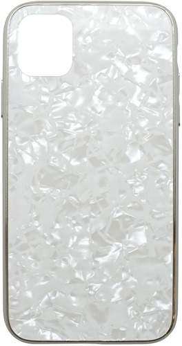 Mobilnet Marble Glass pouzdro pro Apple iPhone 11 Pro Max, bílá