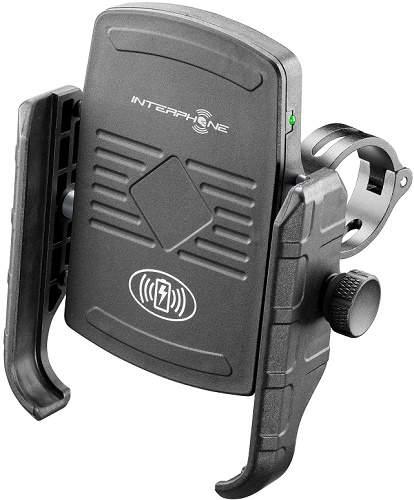 CellularLine Interphone Motocrab držák na telefon s bezdrátovým nabíjením, černá