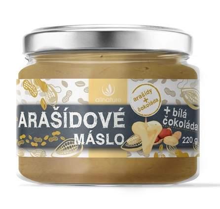 Allnature arašidové maslo s bielou čokoládou