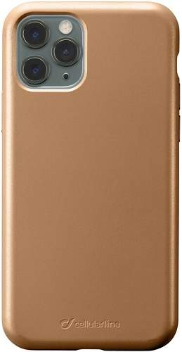 CellularLine Sensation Metallic silikonové pouzdro pro Apple iPhone 11 Pro Max, zlatá