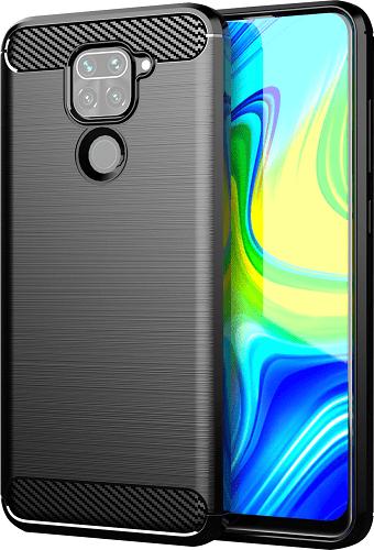 Winner Carbon pouzdro pro Xiaomi Redmi Note 9, černá