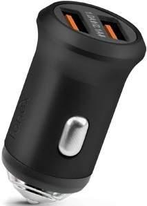 Fonex 2x USB autonabíječka 2,1A, černá