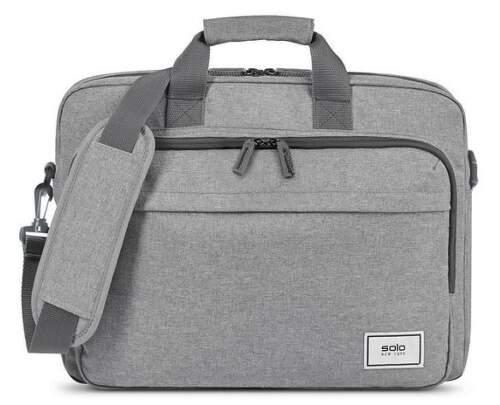 """SOLO NY RE:NEW BRIEFCASE šedá taška na 15,6"""" notebook"""
