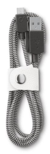 CellularLine LongLife Kabel s konektorem MicroUSB (fabric)
