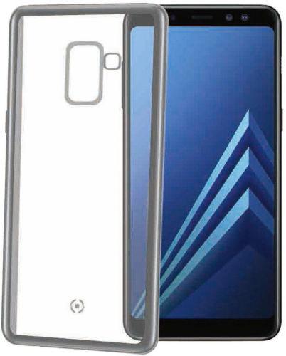 Celly Laser pouzdro pro Galaxy A8+ 2018, stříbrné