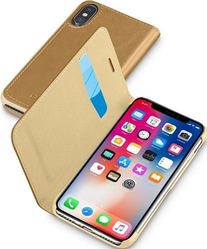 Cellular Line Book Essential flip pouzdro pro iPhone X, hnědé