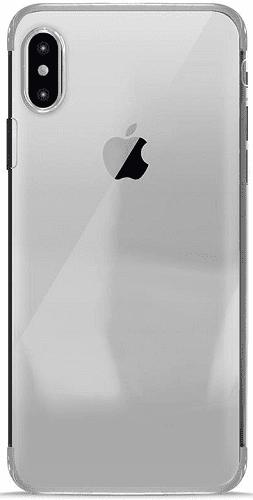Puro Verge Crystal pouzdro pro Apple iPhone X, stříbrná