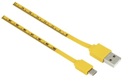 Hama micro USB kabel 1m, žlutý