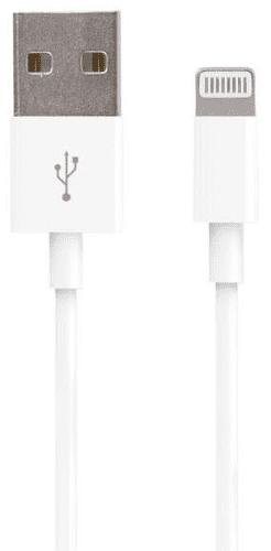 Forever Lightning/USB kabel, biela