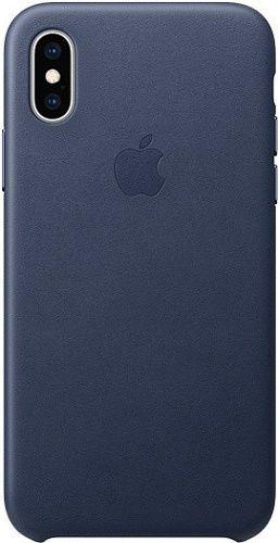 Apple kožené pouzdro pro Apple iPhone XS, půlnoční modrá