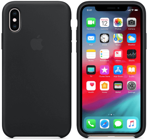 Apple silikonový kryt pro iPhone XS Max, černý