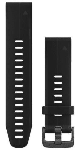 Garmin QuickFit 20 řemínek, černý s tmavou sponou