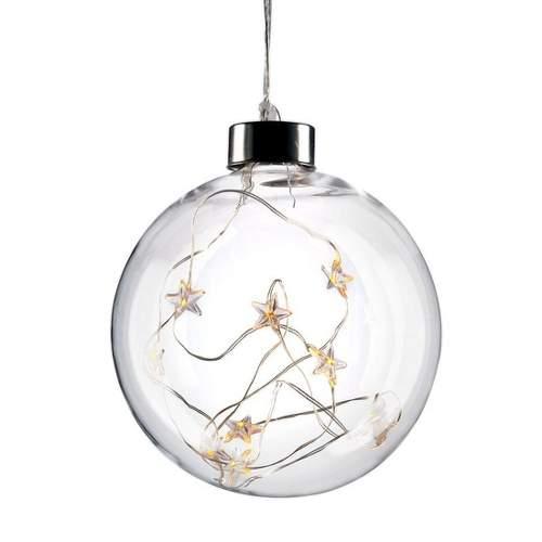 Solight 1V204 LED vánoční koule skleněná