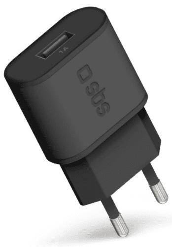 SBS USB cestovní nabíječka 1 A, černá