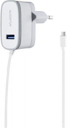 Aligator USB nabíječka + Micro USB kabel, bílá