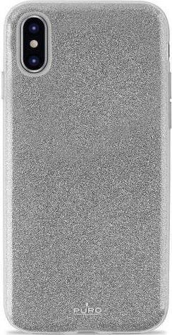 Puro Shine pouzdro pro Apple iPhone Xs Max, stříbrná