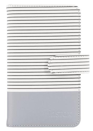 Fujifilm Instax Striped Mini 9 album, kouřově bílá