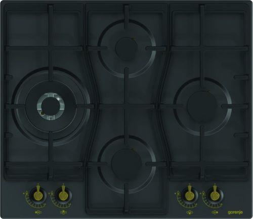 GORENJE GW6D41CLB, černá plynová varná deska