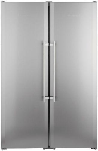 LIEBHERR SBSesf 7212, stříbrná americká chladnička
