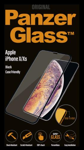 PanzerGlass EdgeToEdge tvrzené sklo pro Apple iPhone Xs a X, černá