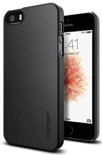 Spigen Thin Fit pouzdro pro iPhone 5/5s/SE, černá