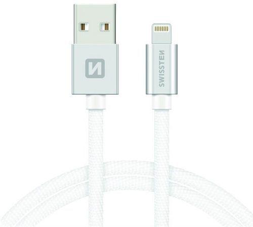 Swissten Lightning datový kabel 2m, stříbrná