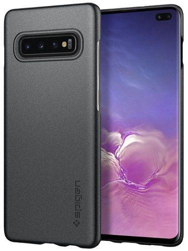 Spigen Thin Fit pouzdro pro Samsung Galaxy S10+, šedá