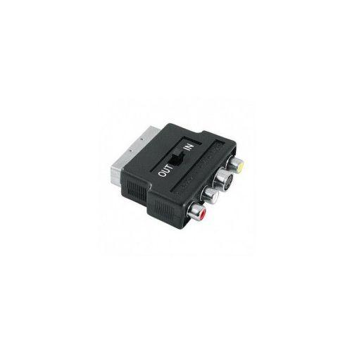 HAMA 122238 Redukcia SCART vidlica - 3 cinch AV + S-video zásuvka