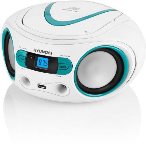 Hyundai TRC 533 AU3WBL - rádiopřijímač (bílo-modrý)