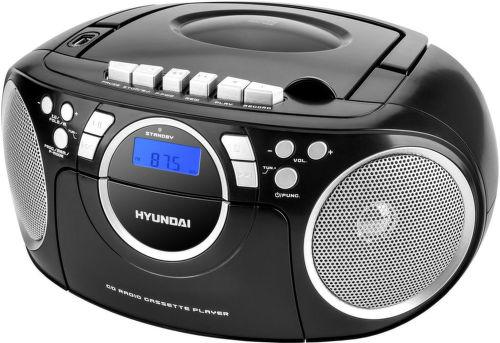 Hyundai TRC 788 AU3BS - radiomagnetofon (černo-stříbrný)