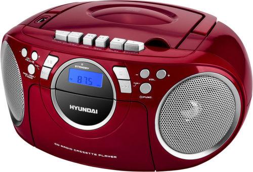Hyundai TRC 788 AU3RS - radiomagnetofon (červeno-stříbrný)
