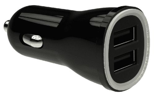 Winner autonabíječka 2xUSB + kabel original MFI, černá
