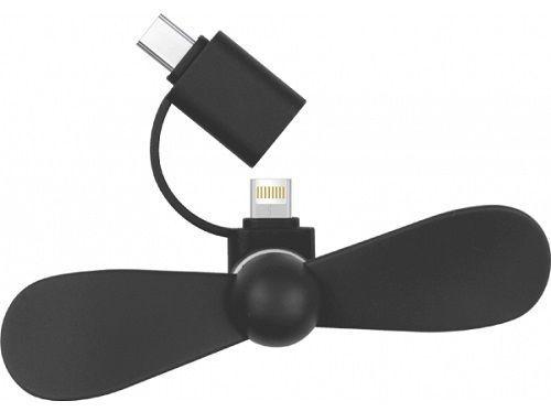 Bsmart ventilátor USB-C/Lightning, černá