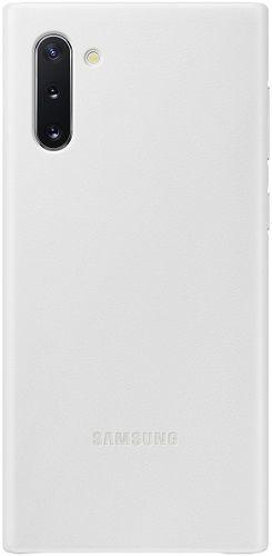Samsung Leather Cover pro Samsung Galaxy Note10, bílá