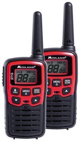 Midland XT10, čierno-červené