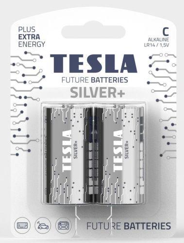 Tesla Silver+ C LR14 2ks