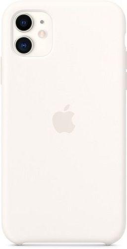 Apple silikonové pouzdro pro iPhone 11, bílá