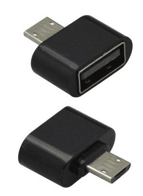 Mobilnet OTG microUSB adaptér, černá