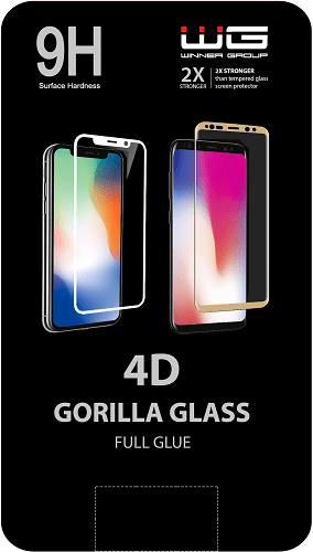 Winner 4D tvrzené sklo pro Apple iPhone 7 Plus/8 Plus, bílá
