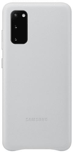 Samsung Leather Cover pouzdro pro Samsung Galaxy S20, světle šedá