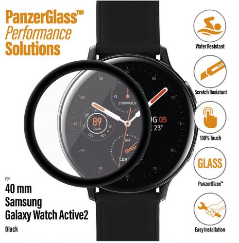 PanzerGlass ochranné sklo pro smart hodinky Samsung Galaxy Watch Active 2 40 mm
