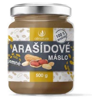 Allnature 100% Arašidové maslo jemné 500 g