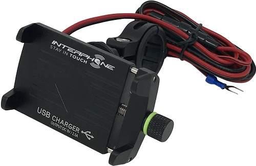 CellularLine Interphone CRAB Evo Alu univerzální držák na řídítka s nabíječkou
