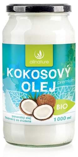 Allnature panenský kokosový olej BIO 1000 ml