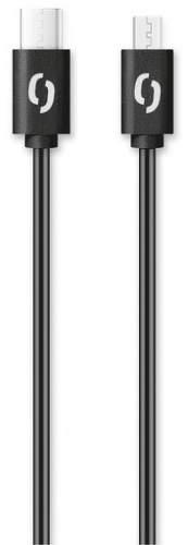 Aligator dátový kábel USB-C / Micro USB 1 m 3 A čierna