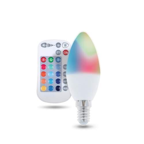 FOREVER E14 C37 RGB RC 5W, LED žiarovka