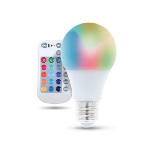 FOREVER E27 A60 RGB RC 9W, LED žiarovka