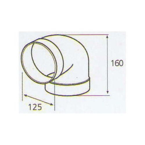 ELICA 1052 R, plastove rozvody 125mm