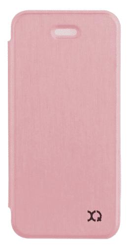 XQISIT Flap Cover Adour pouzdro pro iPhone SE/5S/5, růžově zlaté